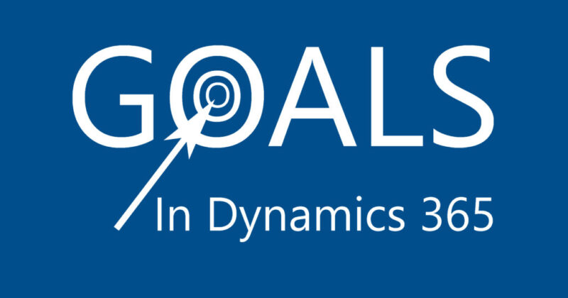 Goals in Dynamics 365