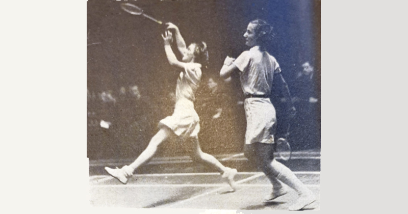 Badminton Malmö 1938 Systrarna Falkenberg BK33